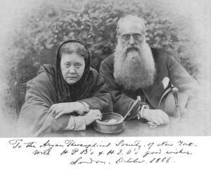 Blavatsky y Olcott en 1888