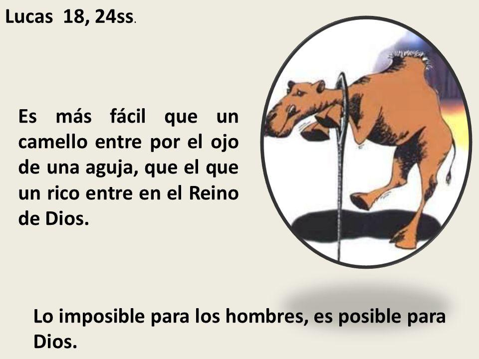 Lo imposible para los hombres, es posible para Dios.